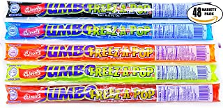 Freeze Pops JUMBO Popsicle Freeze-A-Pop Icicle Icee - Assorted Flavors, 5.5 Oz (Pack of 48, Total of 264 Oz)
