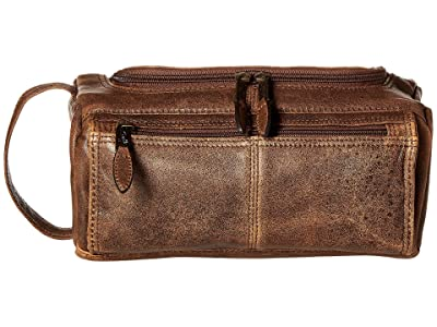 Scully Squadron Shave Kit (Antique Brown) Wallet