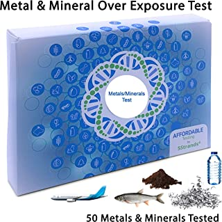 5Strands | Affordable Testing | Metals & Minerals Test | at Home Hair Analysis Kit | Tests 50 Metal & Mineral Over Exposures | Arsenic, Lead, Tin, Mercury, Copper | Results 7-10 Days
