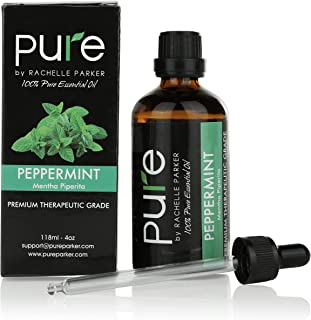 Peppermint Essential Oils Aromatherapy Premium Therapeutic Grade Pure Peppermint Essential Oil 4 oz - (Peppermint Oil - Mentha piperita)