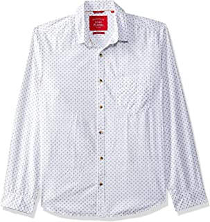 John Players Men's Solid Slim Fit Cotton Casual Shirt