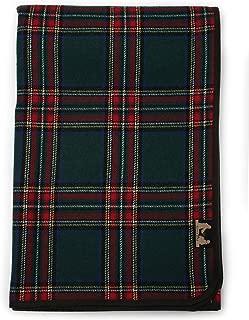 Ruth&Boaz Tartan Plaid Wool Blend Throw Blanket(R) (Green, Large)