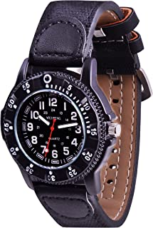 Wolfteeth Teenager Boy's Sport Watch Unique Big Face Analog Watch Military Army Watch Casual Fashion Design Water Resistan...