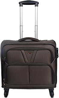 Murano Vegabond 4 Wheel Polyester 28 ltr Brown Soft-Sided 15.6 inch Laptop Overnighter Bag/Luggage Bag