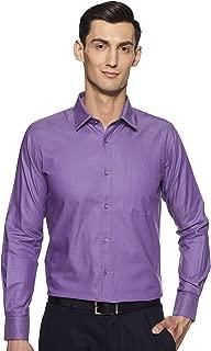 Raymond Solid Cotton Purple Regular Fit Cutaway Collar Full Sleeve Shirt