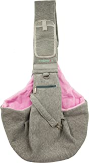 yohino Theglamdog Pet Carrier Shoulder Sling for Small Dogs and Cats, Smartphone Mesh Pocket with Velcro Closure and Zippered Pocket for Treats, Waste Bags, Small Flashlight