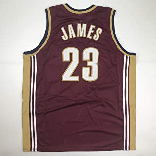 3d78ff015 Unsigned LeBron James Cleveland Red Custom Stitched Basketball Jersey Size  Men s XL New No Brands