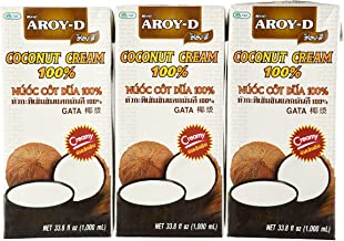 Aroy-D 100% Pure Coconut Cream, 33.8 Oz (3-pack)