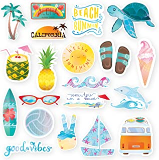 RipDesigns - 20 Beach Stickers for Water Bottles, Laptops, Hydro Flasks (Series 17)
