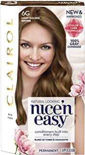Clairol Nice 'N Easy Permanent Hair Color, 6G Light Golden Brown