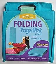 Wai Lana Folding Yoga Mat and Tote, Solid Blue