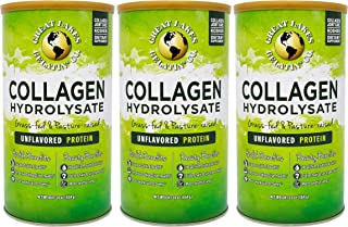 Great Lakes Pure, Unflavored Collagen, 16oz 3-Pack