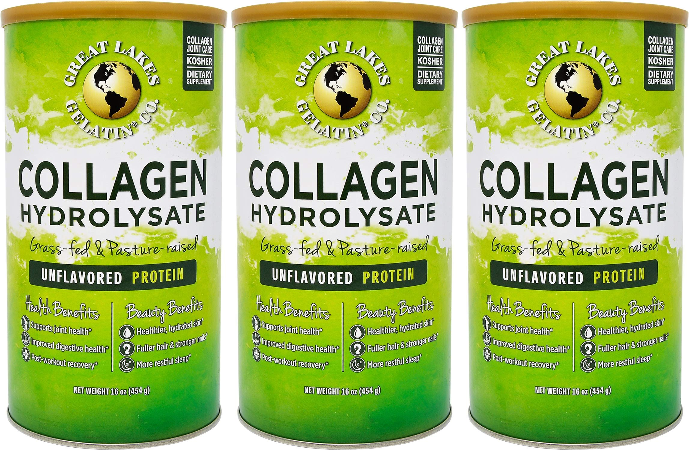 Great Lakes Unflavored Collagen 3 Pack