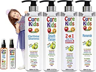 Cure Kids Smooth Therapy Silky Shiny Hair Treatment 6pc Full Kit your kids. Safe. Swimmers Safe for all little ones childr...