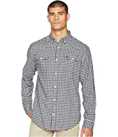 Long Sleeve Textured Gingham
