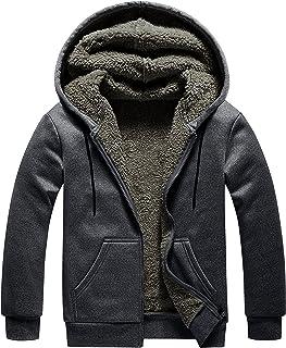 Sponsored Ad - DR.G.TC Hoodies for men Full Zip Up Winter Sweatshirt Fleece Sherpa Lined Warm Coats