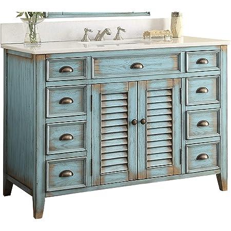 "46"" Benton Collection Cottage Look Abbeville Bathroom Sink Vanity Model CF28885BU"