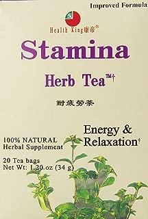 Health King Stamina Herb Tea, Teabags, 20 Count Box