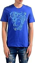 Versace Collection Men's Blue Graphic Print T-Shirt US L IT 52;