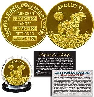 Apollo 11 50th Anniversary Commemorative NASA One-Ounce 1 OZ Robbins Medallion Tribute Coin clad in 24K Gold