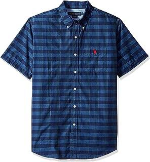 Men's Short Sleeve Classic Fit Striped Shirt