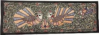 The Krafts Peacock Dancing in Jungle Shown in Mithila Painting Madhubani Art Hindu Art