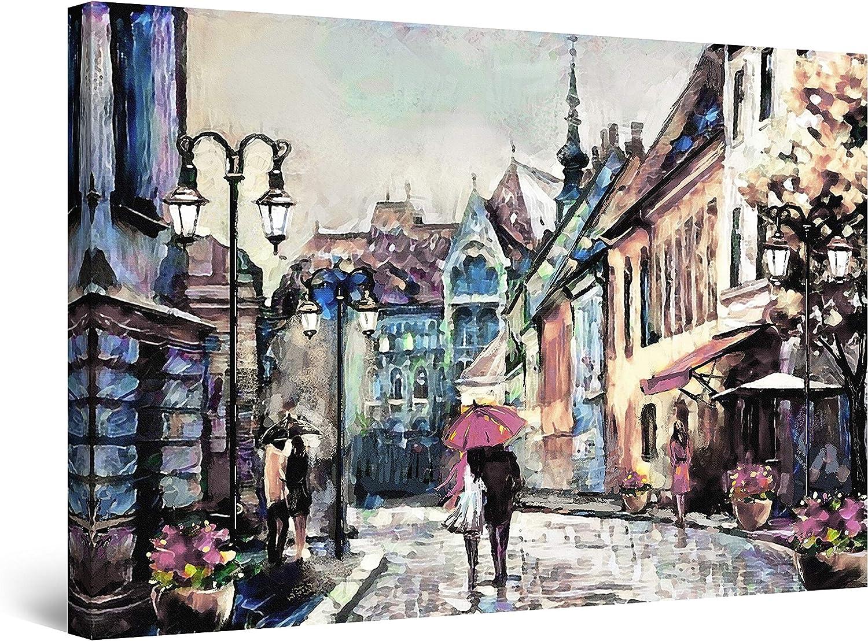 Startonight 発売モデル Canvas Wall 最安値 Art Abstract Walking Painting Couple -