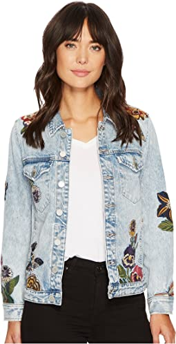 Blank NYC - Embroidered Denim Jacket in Flight Song