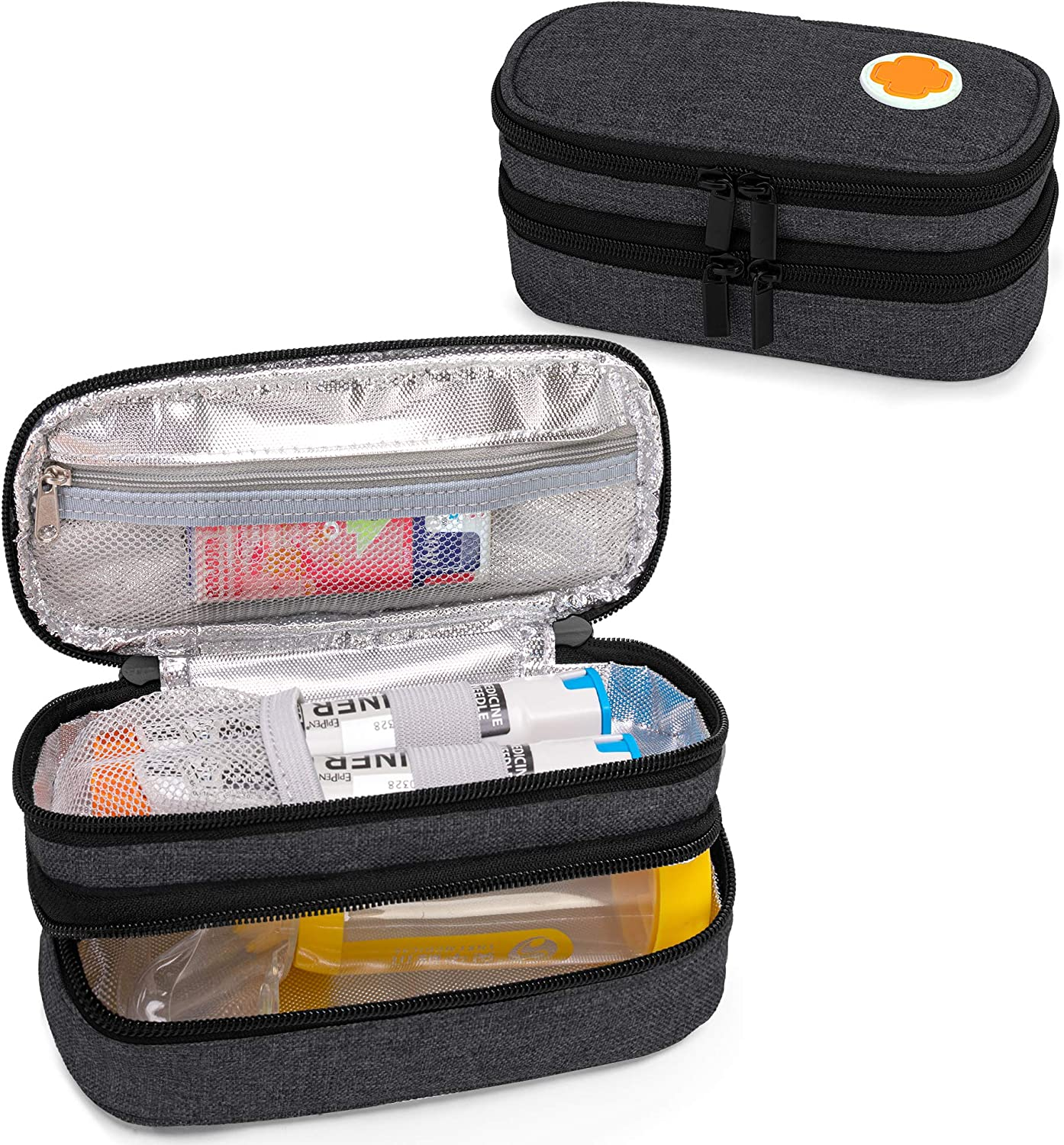 CURMIO Double Cheap sale Layer EpiPen Carrying Portable Case for Medic Kid Factory outlet