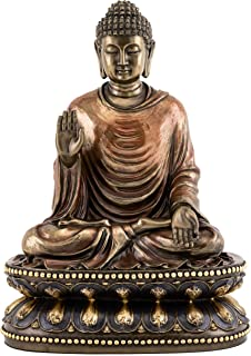 Top Collection Meditating Shakyamuni Buddha Statue Touching the Earth - The Enlightened One Sculpture in Premium Cold Cast Bronze- 9-Inch Supreme Buddha Figurine