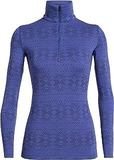 Icebreaker Wmns 250 Vertex LS Half Zip Crystalline Vrouwen. T-shirt met lange mouwen