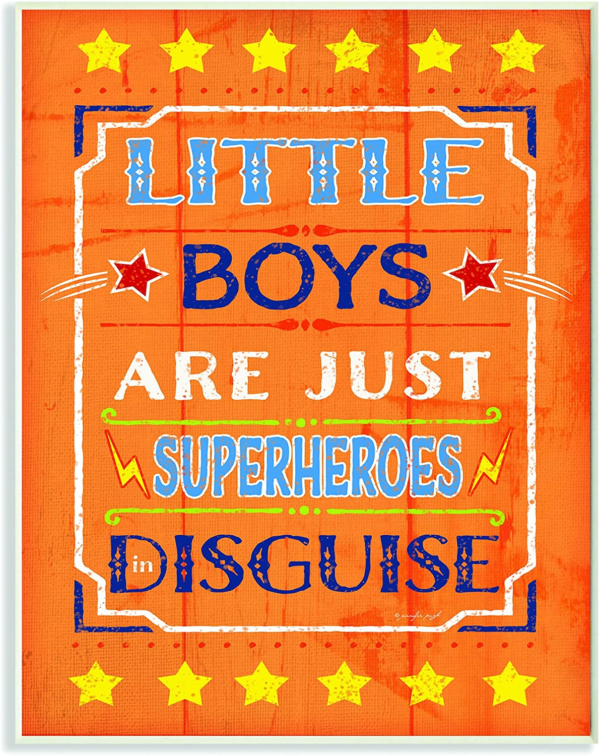 The Kids Room by Stupell Little Boys Are Just Superheroes in Disguise Textual Art Wall Plaque