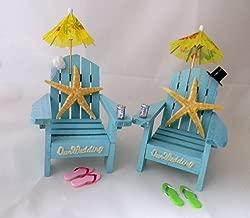Wedding Reception Adirondack Chairs Beach Real Starfish Cake Topper