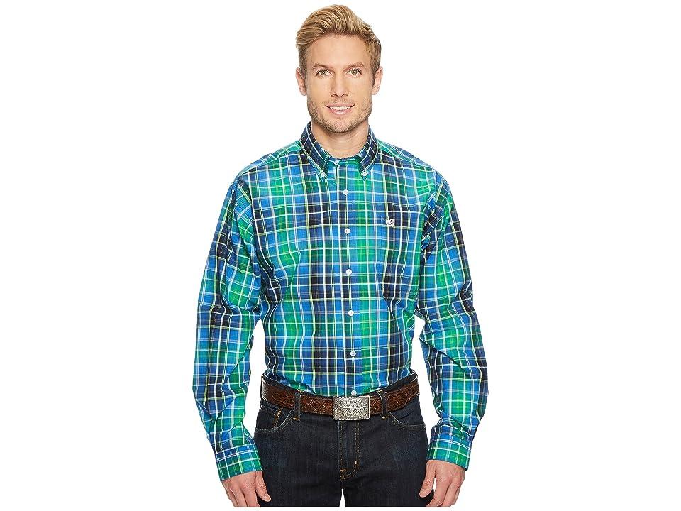 Cinch Long Sleeve Plain Weave Print (Multicolored) Men