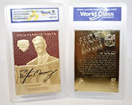 gold football cards