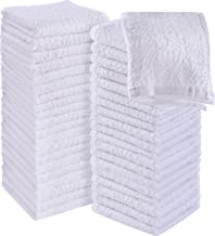 Utopia Towels Cotton Washcloths, Cotton, White, Pack of 60
