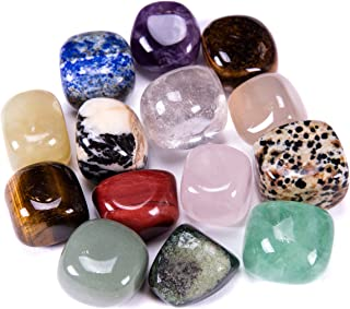 Bingcute Brazilian Tumbled Polished Natural Stones 1/2 Ib For Wicca, Reiki, and Energy Crystal Healing (Assorted)