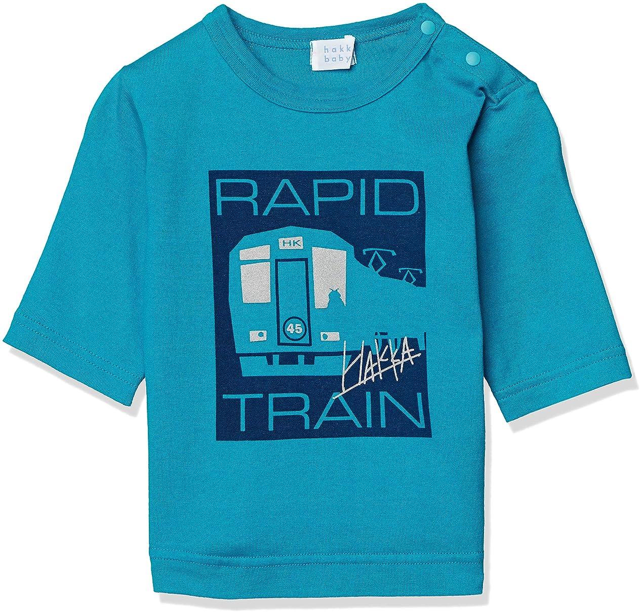 宇宙がっかりした許可する[ハッカベビー] [ボーイズ] 電車プリント7分袖Tシャツ 00953001 ベビー
