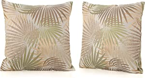 Christopher Knight Home Coronado Outdoor Square Water Resistant Pillows, 2-Pcs Set, Tropical Sand