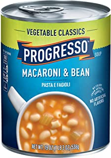 Progresso Vegetable Classics Soup, Macaroni and Bean, 19-Ounce Cans (Pack of 6)