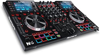 Numark NV II | Professional DJ Controller for Serato DJ (Included) With Dual High Resolution Displays