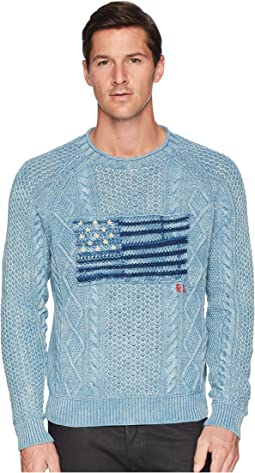 Polo Ralph Lauren Indigo Flag Cotton Sweater