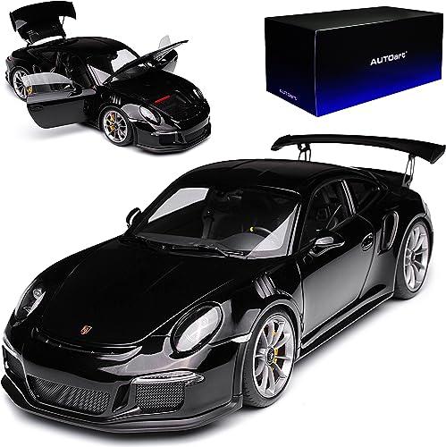 AUTOart Porsche 911 991 GT3 RS SchwarzAb 2013 78164 1 18 Modell Auto mit individiuellem Wunschkennzeichen