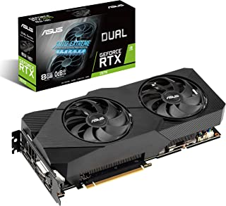 ASUS Dual NVIDIA GeForce RTX 2070 EVO V2 OC Edition Gaming Graphics Card (PCIe 3.0, 8GB GDDR6 memory, HDMI, DisplayPort, D...