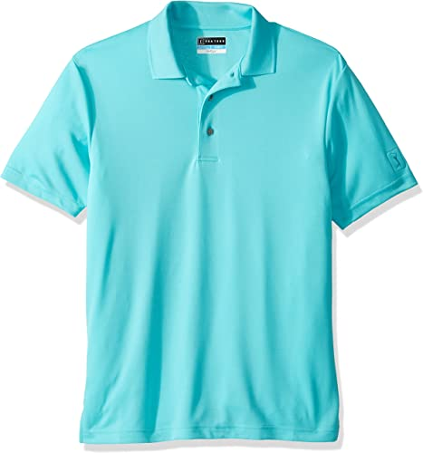 PGA TOUR Hommes's Airflux Ventilated Solid Polo, Capri_PVKS8052, X-grand