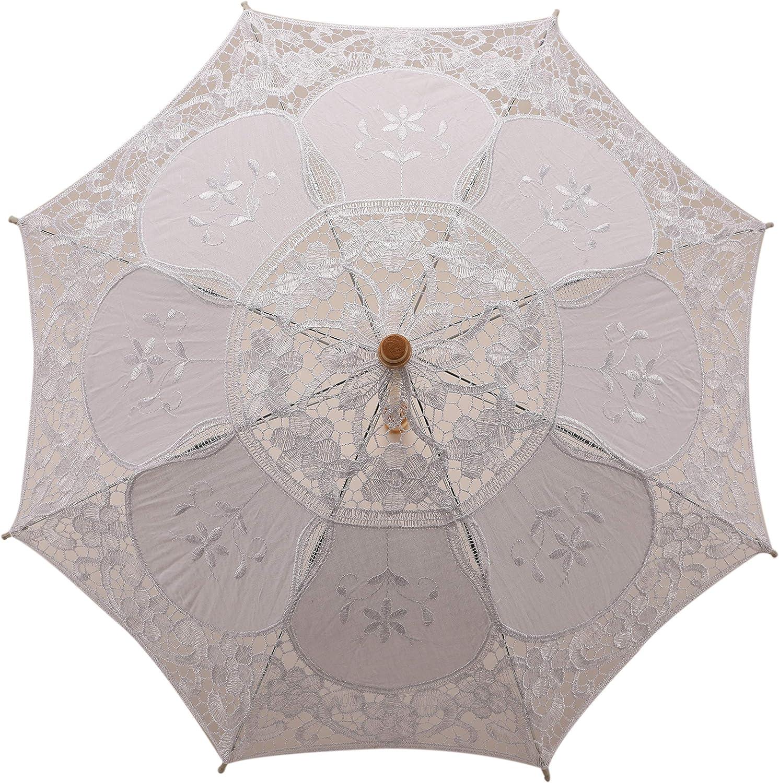 HE ANDI Vintage style bridal wedding lace umbrella