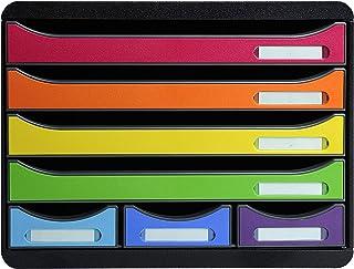 Exacompta - Réf. 307798D - STORE-BOX - Caisson 7 tiroirs, 4 tiroirs pour documents A4+ et 3 tiroirs MINI - Dimensions exté...