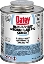 Oatey 30893 PVC Rain-R-Shine Cement, 16-Ounce, Blue