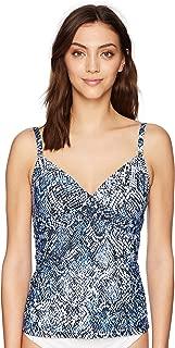 Women's Solid Tankini Swimsuit Adjustable Straps Tummy Control