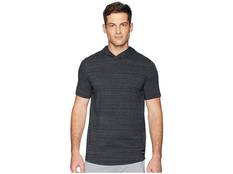 Under Armour Sportstyle Short Sleeve Hoodie (Black/Black) Men